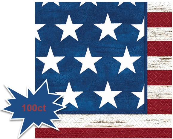 Americana Luncheon Napkins, 100ct