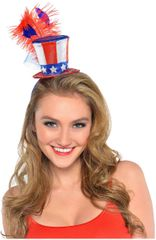 Feather Uncle Sam Hat Headband