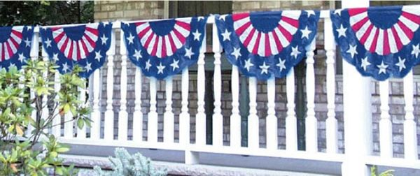 Patriotic American Flag Bunting, 11ft