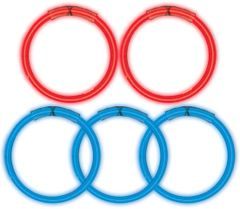 Red & Blue Glow Sticks, 5ct