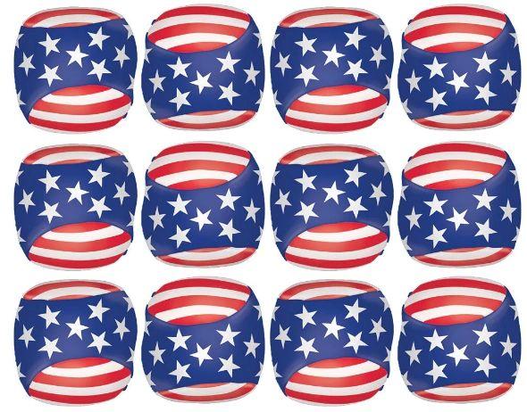 Soft Patriotic American Flag Balls, 12ct