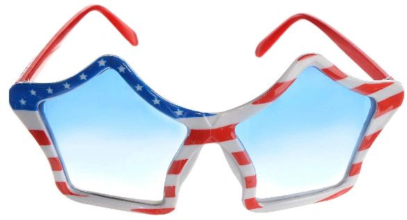 Patriotic Star Glasses