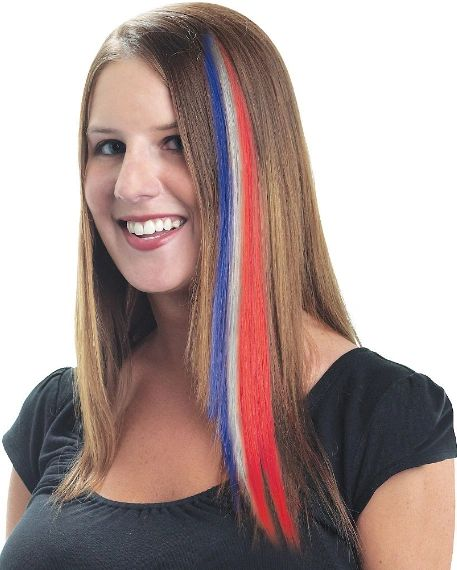 Red, White & Blue Hair Extension