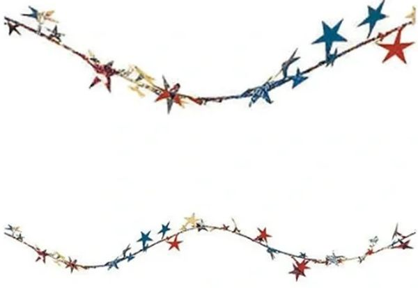 Patriotic Stars Wire Garland