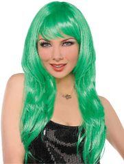 Glamorous Long Green Wig