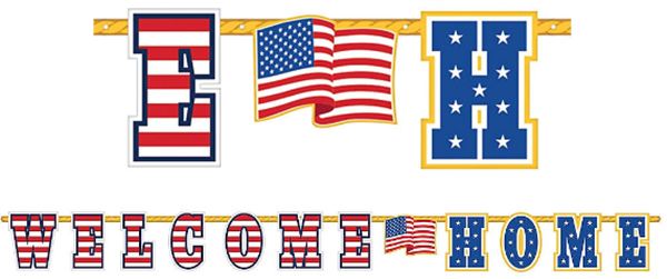 Welcome Home Giant Illustrated Letter Banner, 11ft