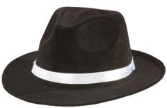 20s Black Gangster Hat
