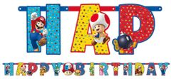 Super Mario Brothers™ Jumbo Add-An-Age Letter Banner, 10 1/2ft