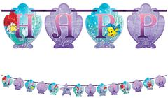 ©Disney Ariel Dream Big Ribbon Letter Banner, 10 1/2ft