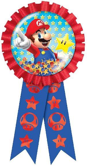Super Mario Brothers™ Confetti Pouch Award Ribbon