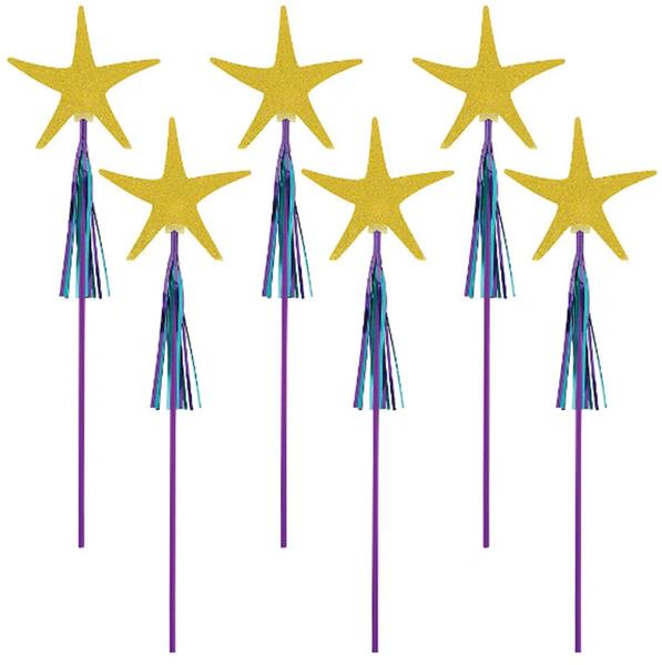 Mermaid Wishes Starfish Wands, 6ct