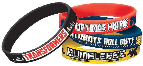 Transformers™ Rubber Bracelet Favors, 4ct