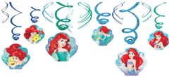 ©Disney Ariel Dream Big Swirl Decorations, 12ct