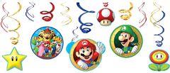 Super Mario Brothers™ Swirl Decorations, 12ct