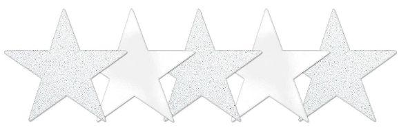 Star Cutouts - Frosty White, 5ct