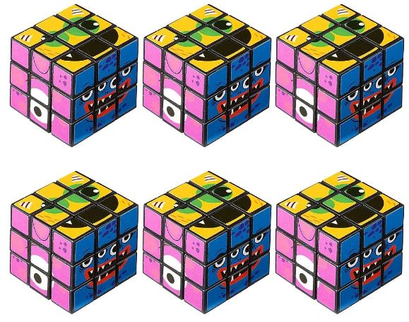 Monsters Puzzle Cubes, 6ct