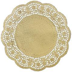 "Gold Foil Round Doilies, 10 1/2"" - 6ct"