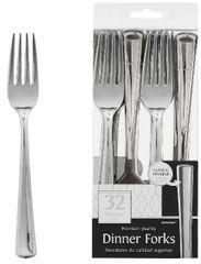 Dinner Forks - Silver, 32ct