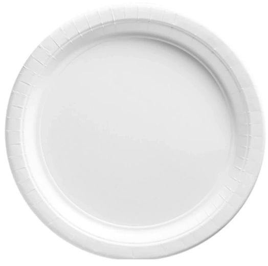 "Frosty White Lunch Plates, 9"" - 20ct"