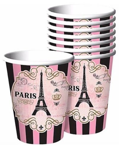 A Day in Paris Cups, 9 oz - 8ct