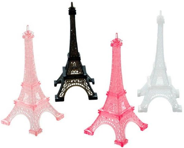 Day in Paris Eiffel Tower - Multicolor, 4ct