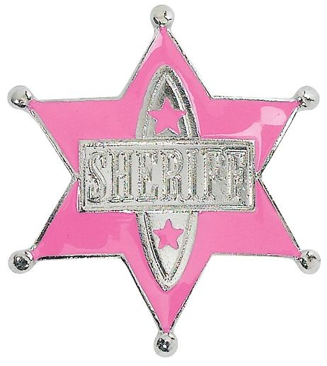Cowgirl Pink Sheriff Badge