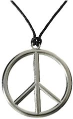60s Peace Sign Necklace