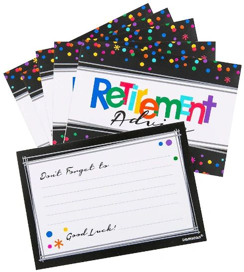 Officially Retired Retirement Advice Cards, 24ct