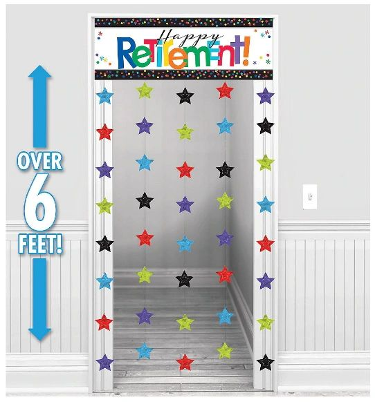 Happy Retirement Celebration Doorway Curtain
