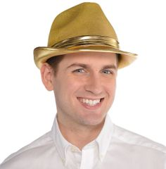 Gold Velour Fedora