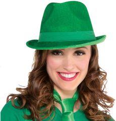 Green Velour Fedora