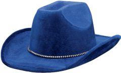 Blue Velour Cowboy Hat