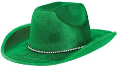 Green Velour Cowboy Hat