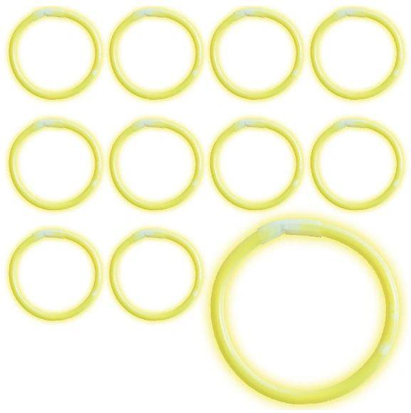 Yellow Glow Bracelets, 12ct
