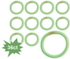 "8"" Glow Stick Tube - Green, 36ct"