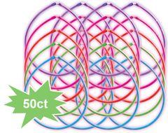 Rainbow Necklaces Glow Sticks, 50ct