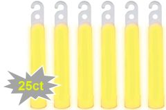 "4"" Glow Stick Mega Value Pack - Yellow, 25ct"