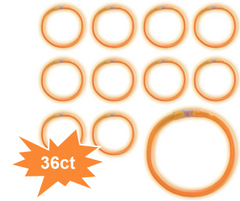"8"" Glow Stick Tube - Orange, 36ct"