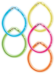 """8"""" Multi Color Glow Sticks, 5ct"""