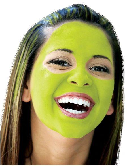 Neon Green Face Paint Makeup