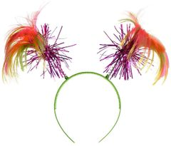 Black Light Neon Ponytail Head Bopper