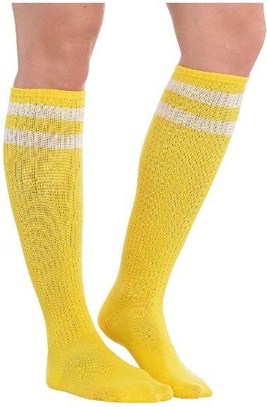 Yellow Striped Knee Socks