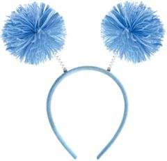 Light Blue Pom-Pom Head Bopper