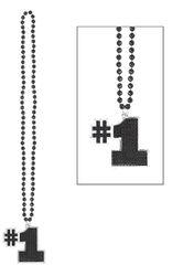 Black #1 Bling Necklace