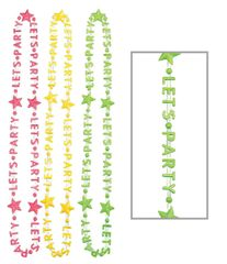 """Let's Party"" Word Necklace - Neon, 3ct"
