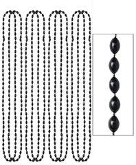 Black Metallic Bead Necklaces, 8ct