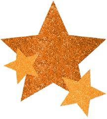 Orange Star Body Jewelry