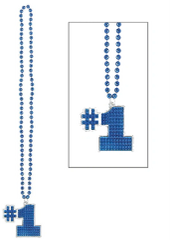 Blue #1 Bling Necklace