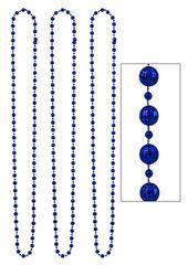Blue Disco Bead Necklaces, 3ct