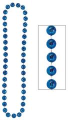 Blue Jumbo Bead Necklace